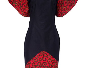 Isoks Midi Patch Dress with Sequin Details