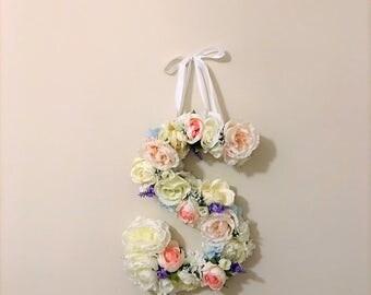 Floral Monogram, Wedding Decoration, floral monogram, floral wall decor, flower letter, floral letter, spring wedding decor, nursery decor