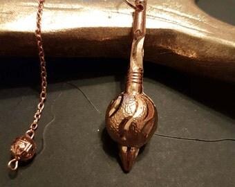 copper, pendulum,pagan, magic, moon, Gada