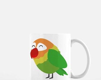 Peach Faced Lovebird Parrot Mug