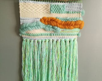 Medium Woven Wall Hanging - Weaving Art Tissage mural