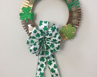 St. Patrick's Day with Shamrock Bow