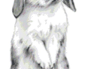 Standing Rabbit Cross Stitch Pattern (Pattern #057)