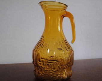 Orange pitcher textured vintage Pitcher