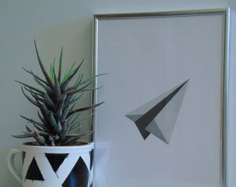 Paper airplane, INSTANT DOWNLOAD