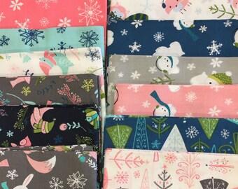 Winter Wonderland by Heather Ross for Camelot Fabrics 18 piece fat quarter bundle