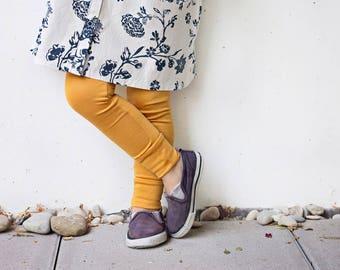 Mustard basic children leggings
