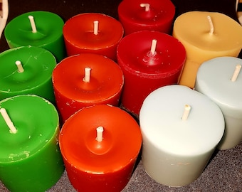 Handpoured wax votives scented with the choice of  almost 60 fragrances Pack of two