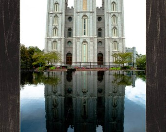 Salt Lake Temple. Metallic. Blues