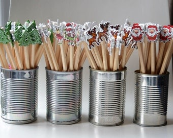 Christmas decorative pencils Assorted pack of 5