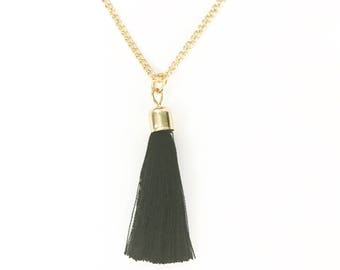 Tassel Necklace, Long Tassel Necklace, Necklace with Tassel, Long Necklace with Tassel, Tassel Pendant Necklace, Necklace Tassel