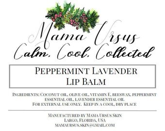 Calm, Cool, and Collected Lip Balm
