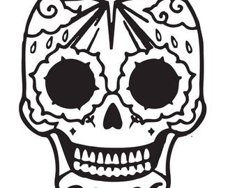 Vinyl Decals - Sugar Skull