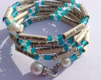 Blue Book Bead Bracelet