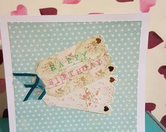 Handmade Birthday Card 6x6 inches