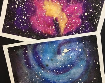 Galaxies, original watercolor