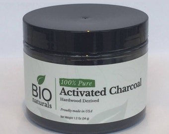 Activated Charcoal Powder virgin Food Grade NSF/ANSI Certified (1.2 oz) | Satisfaction Guarantee or 100% Money Back