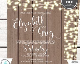 Country Wedding Invitation | Rustic Wedding Invitation | Wedding Invitation Printable | Wedding Invitation Template | Wedding DIY Invite