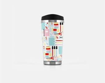 Teacher Travel Mug, Teacher Appreciation Gift, Gifts for Teachers, Cute Travel Mugs, Coffee Travel Tumbler, To Go Coffee Cup, 16 oz