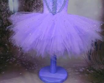 Lilac tutu dress, fairy tutu, Princess dress, girls party dress, woodland fairy, flowergirl dress, Ballerina dress
