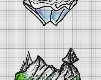 Mountains clipart PNG SVG