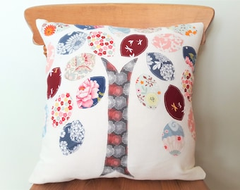 Decorative woodland pillow cover