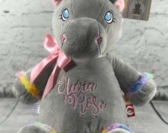Grey Unicorn Cubby with Personalisation | Personalised Teddy | New Baby Gift | Christening Present | Baby Shower | Communion Gift | Birthday