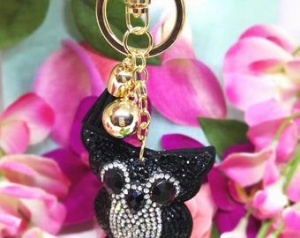 Keychain, bag in srtass OWL jewelry