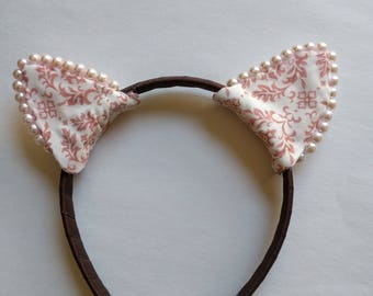 Pink & Brown | Cat Ears Headband | Nekomimi
