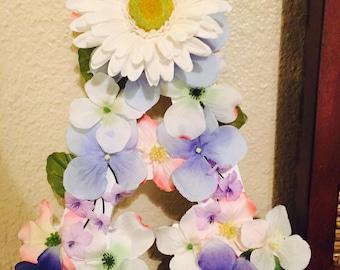 Mini Wooden Floral Letter