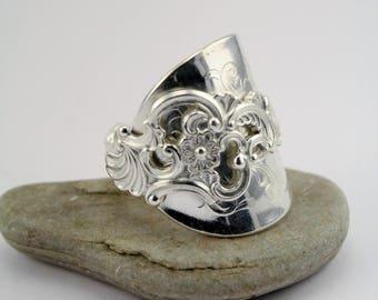 """Handmade Norwegian Silverspoon Ring """"Oldemor"""""""