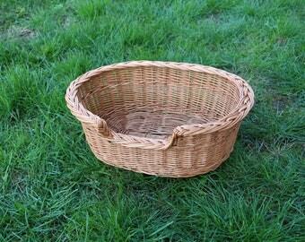 Dog Wicker Basket, Dog Bed, Pet Bed, Dog Basket, Cat Bed, Cat Basket Wicker, Dog Beds, Dog Bed Large, Natural Dog Bed, Dog Basket Medium, Wi