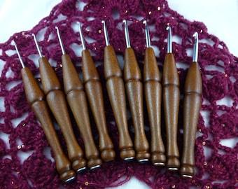 Hand Turned Wooden Crochet Hooks (SET)