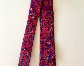 Pink, red, purple, men's skinny tie