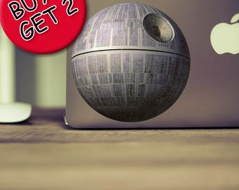 Death Star Macbook decal Star wars decal Death star decal Star wars sticker Death star sticker Darth vader decal Jedi decal Laptop decal