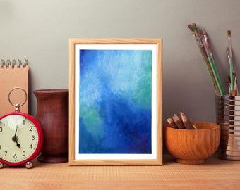 Original Painting, Blue Abstract Art, Watercolour Painting, Wall Art, Home Decor, Watercolor Painting, Watercolour Original Art, Wall Decor