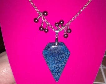 Blue Stone necklace with decoration