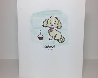 Set of 5 HANDMADE Greeting Cards - thank you, birthday, sympathy, friends