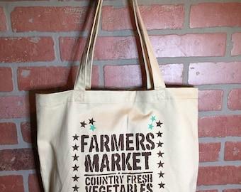 Farmers Market Tote Bag Organic