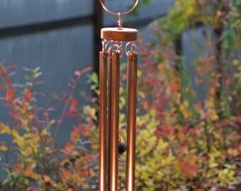 Wind Chime Suncatcher Glass Copper Outdoor Large Windchimes
