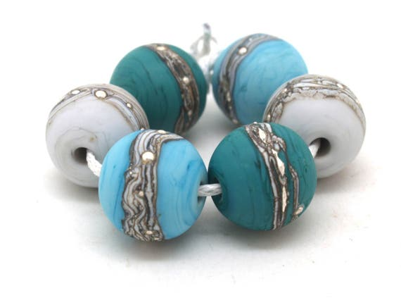 Teal, Turquoise & Grey Bead Pairs