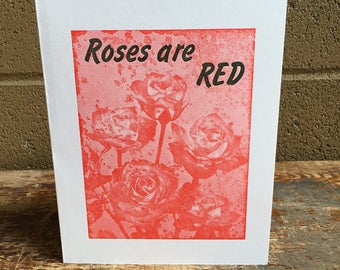 Roses are Red - Letterpress Birthday Card