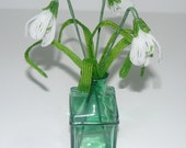 French Beaded Flowers Snowdrops