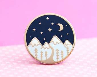 Mountain Enamel Pin - Cute Pin for Jackets and Backpacks