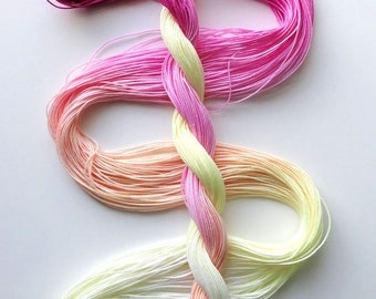 "Size 20 ""Peace"" hand dyed thread 6 cord cordonnet tatting crochet cotton"