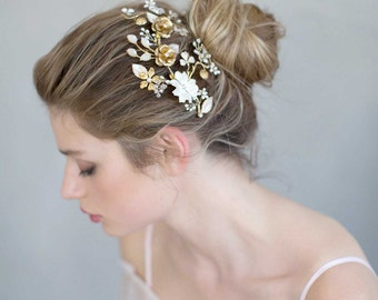 Bridal headpiece - Sweet blossom and bloom headpiece - Style 761 - Made to Order
