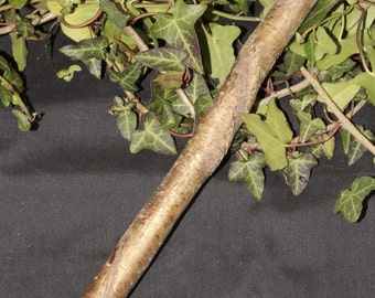 Twisted Avalon Hazel Wand - for Wisdom - Pagan, Wicca, Witchcraft, Magic, Ritual, ogham, ogam