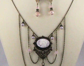 Lavender Lady Necklace with Earrings