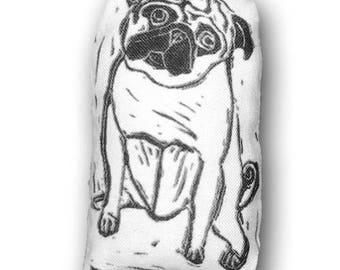 Pocket Pug Art Doll - Fiber Art - Pocket Pug Archie
