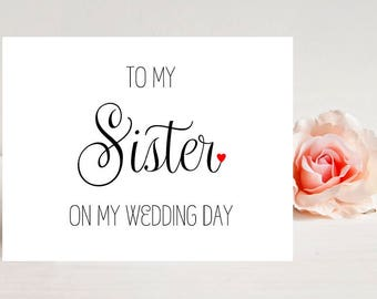 Card for Sister on Wedding Day